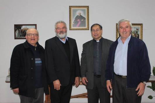 Da esquerda para a direita: Pe. Pio, Pe. Pedro, Pe Leo e Pe. Geraldo